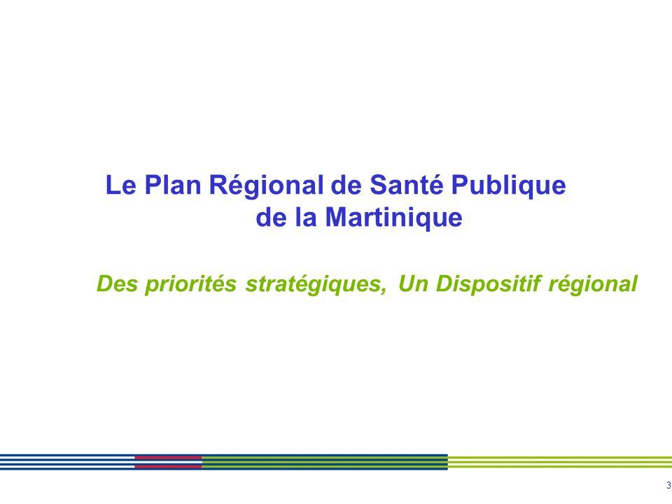 3 Le Plan Régional de Santé Publique de la Martinique Des priorités stratégiques, Un Dispositif régional