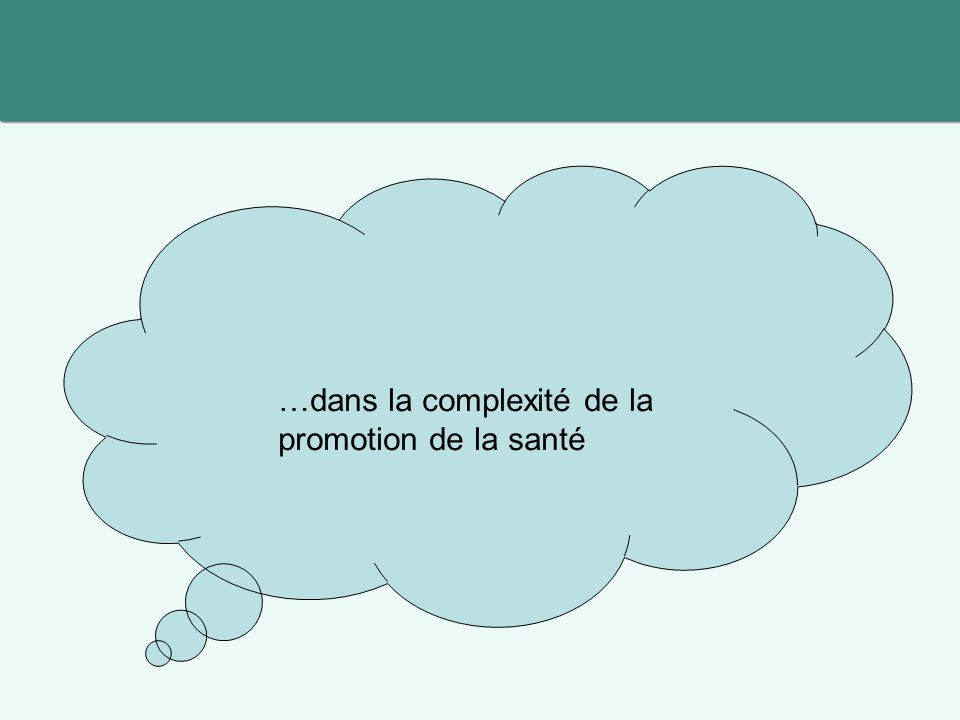 …dans la complexité de la promotion de la santé