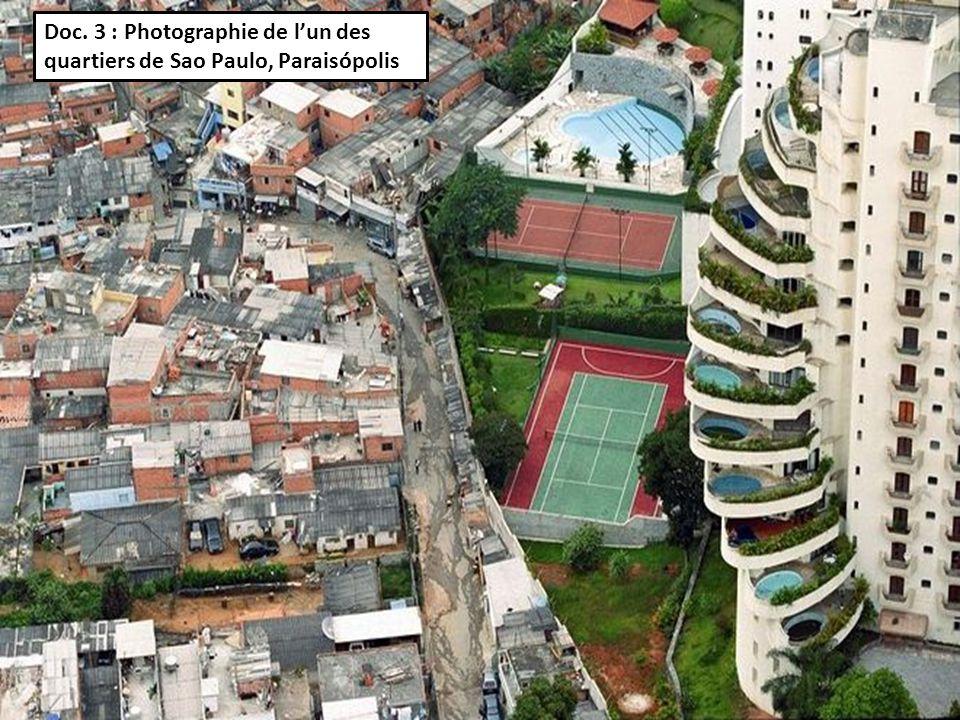 Doc. 3 : Photographie de lun des quartiers de Sao Paulo, Paraisópolis