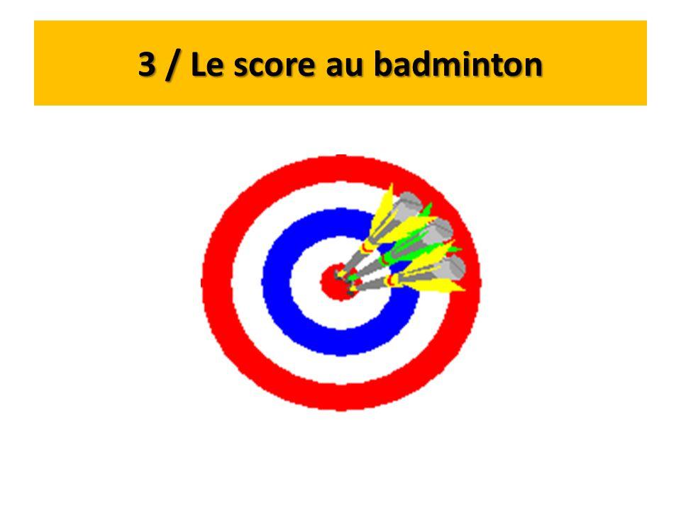 3 / Le score au badminton