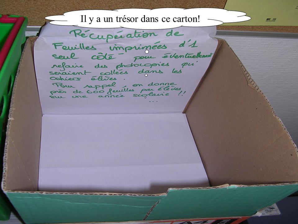 Il y a un trésor dans ce carton!