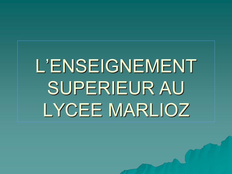 LENSEIGNEMENT SUPERIEUR AU LYCEE MARLIOZ