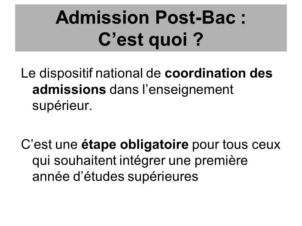 Admission Post-Bac : Cest quoi .