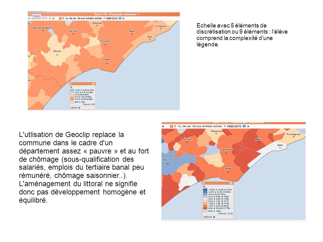 L utlisation de Geoclip replace la commune dans le cadre d un département assez « pauvre » et au fort de chômage (sous-qualification des salariés, emplois du tertiaire banal peu rémunéré, chômage saisonnier..).