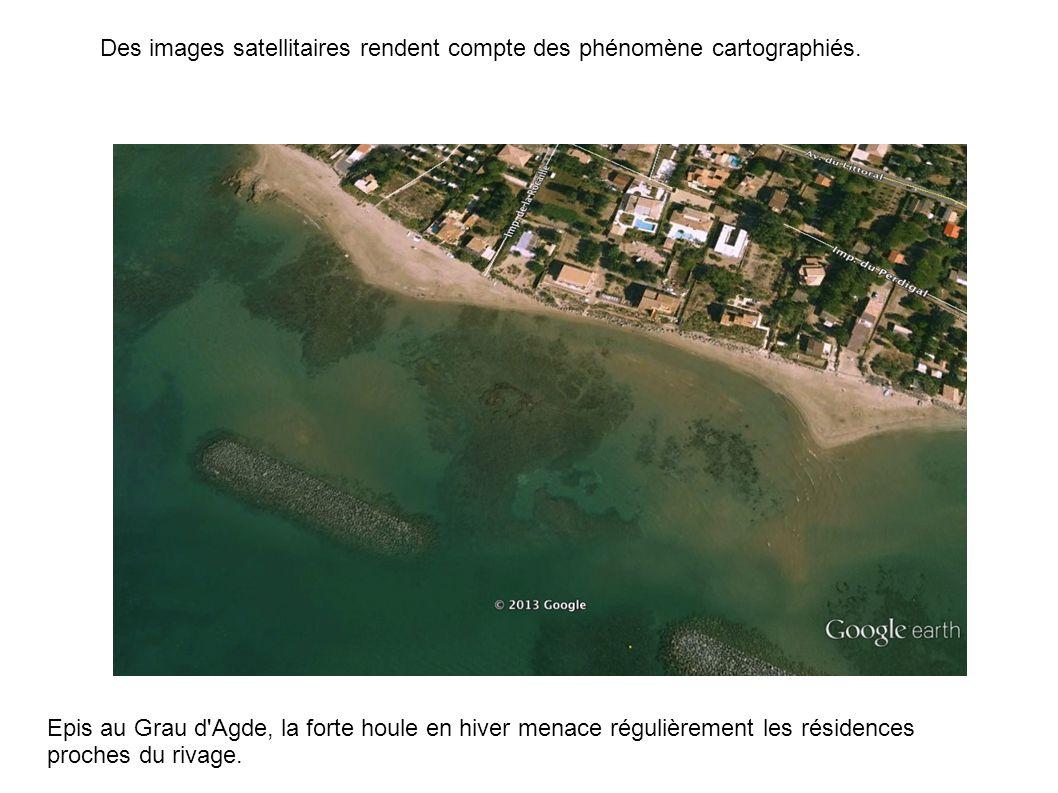 Epis au Grau d Agde, la forte houle en hiver menace régulièrement les résidences proches du rivage.