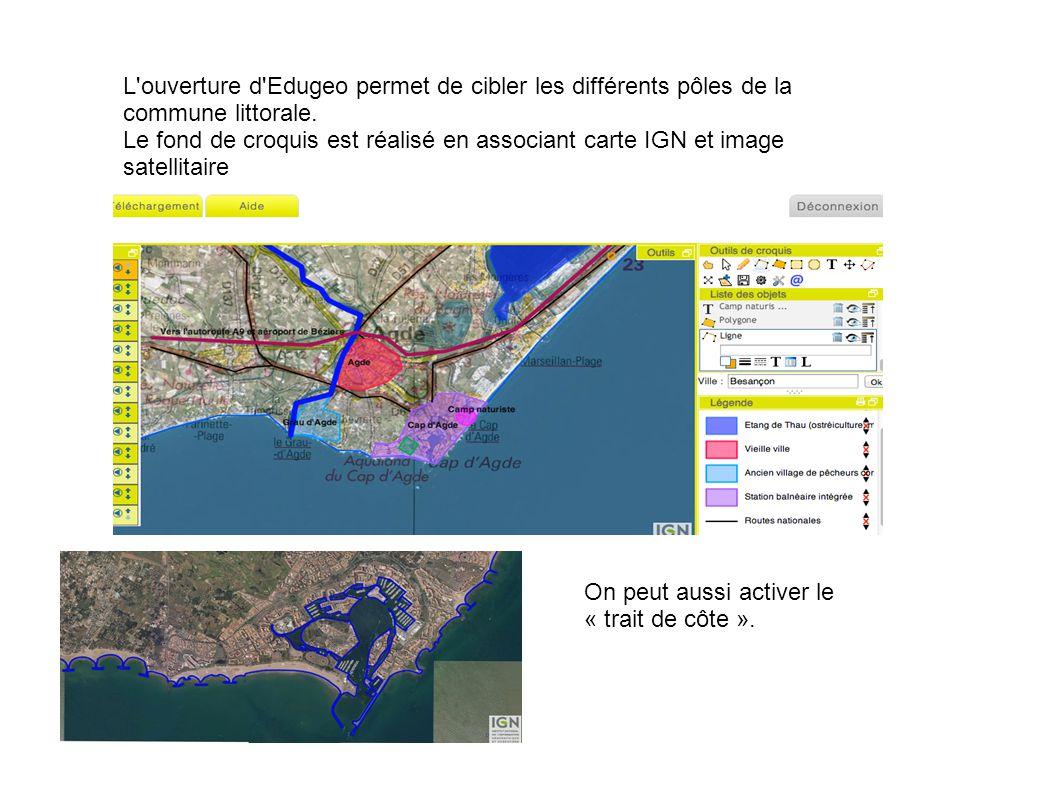 L ouverture d Edugeo permet de cibler les différents pôles de la commune littorale.