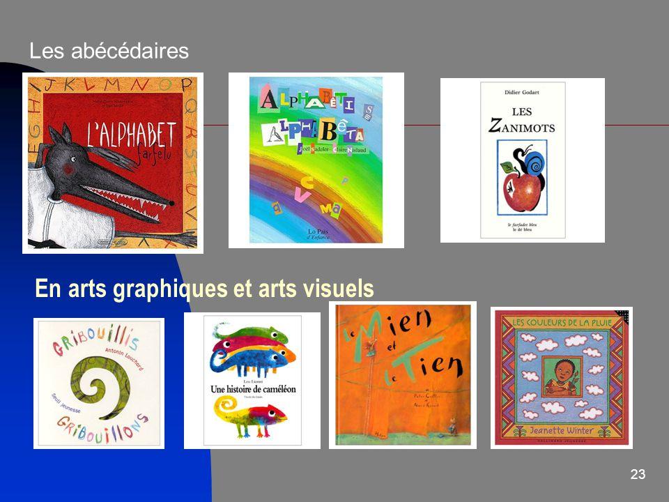 23 Les abécédaires En arts graphiques et arts visuels