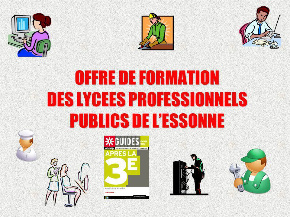 OFFRE DE FORMATION DES LYCEES PROFESSIONNELS PUBLICS DE LESSONNE