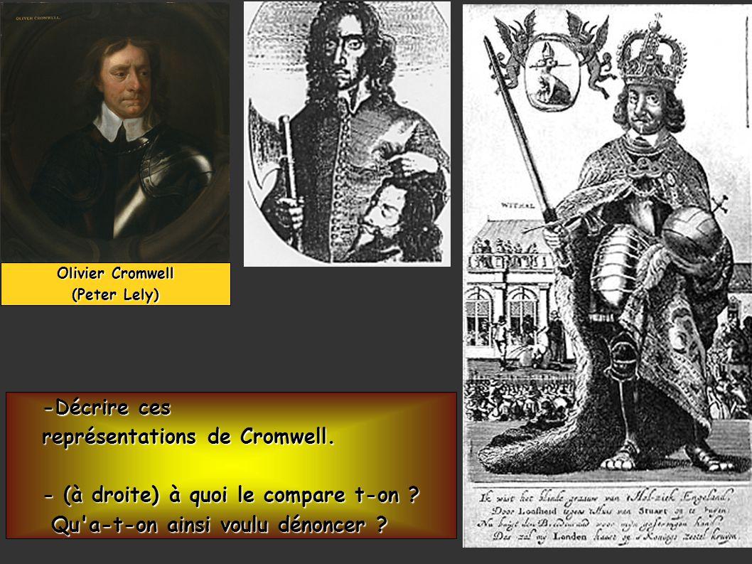 A la mort d Olivier Cromwell, la monarchie est restaurée (1660) par le Parlement qui exige du roi la reconnaissance de l habeas corpus (1679).