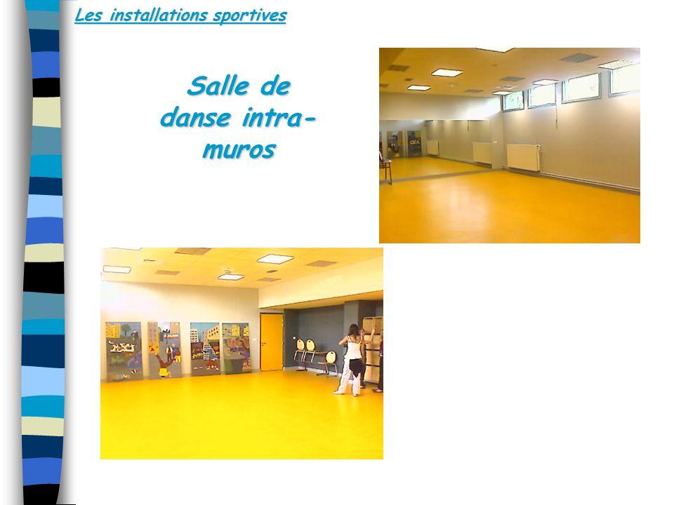 Les installations sportives Salle de danse intra- muros