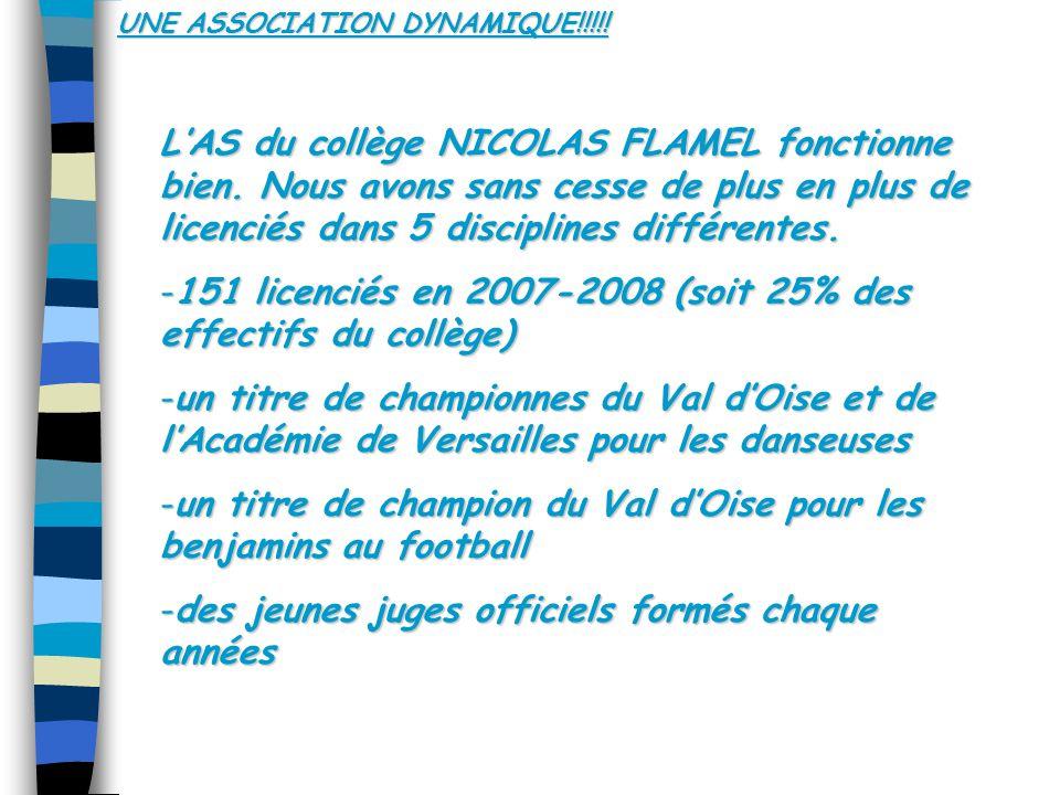 UNE ASSOCIATION DYNAMIQUE!!!!.LAS du collège NICOLAS FLAMEL fonctionne bien.