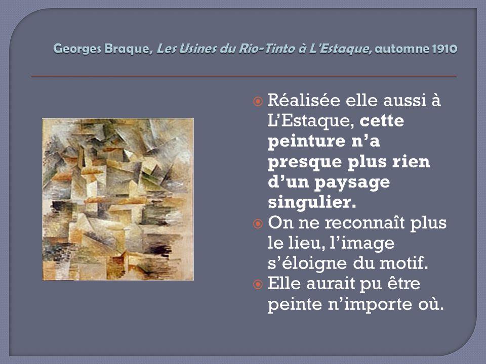 A partir de 1911-1912, Braque et Picasso comprennent que leur peinture devient de moins en moins lisible.