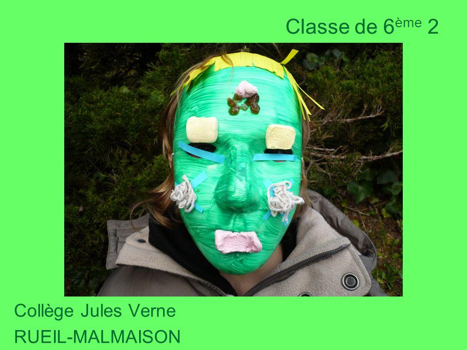Classe de 6 ème 2 Collège Jules Verne RUEIL-MALMAISON