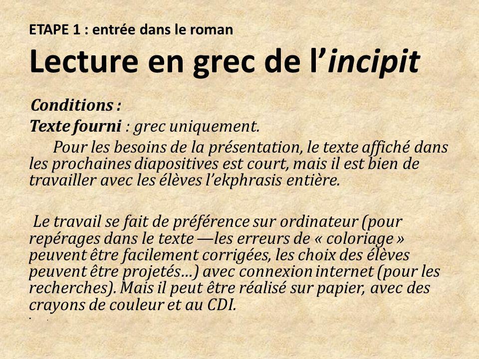 Lecture en français de lensemble du passage Les élèves se sont procurés auparavant le roman, dans lédition intégrale publiée en 2013 par les Belles Lettres, livre de poche, édition bilingue.