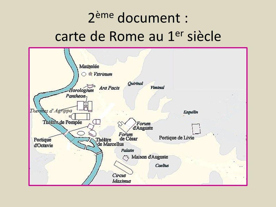 2 ème document : carte de Rome au 1 er siècle