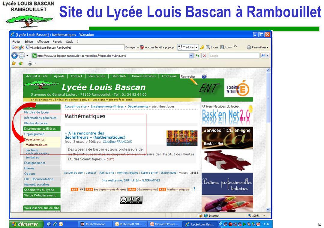 14 Site du Lycée Louis Bascan à Rambouillet