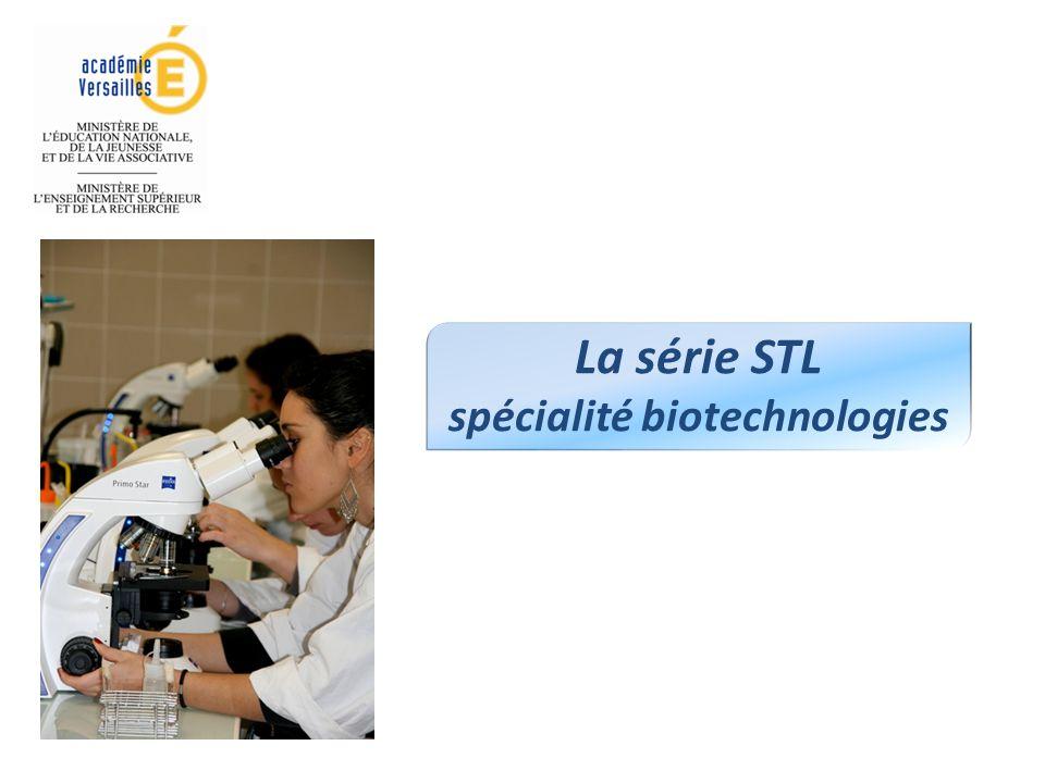 La série STL spécialité biotechnologies