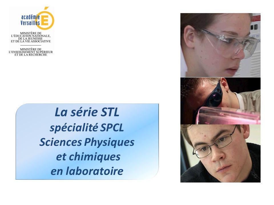 La série STL spécialité SPCL Sciences Physiques et chimiques en laboratoire