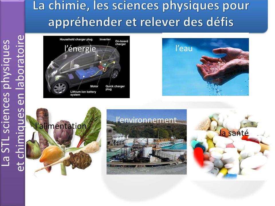 La STL sciences physiques et chimiques en laboratoire La STL sciences physiques et chimiques en laboratoire lénergie leau lenvironnement l'alimentatio