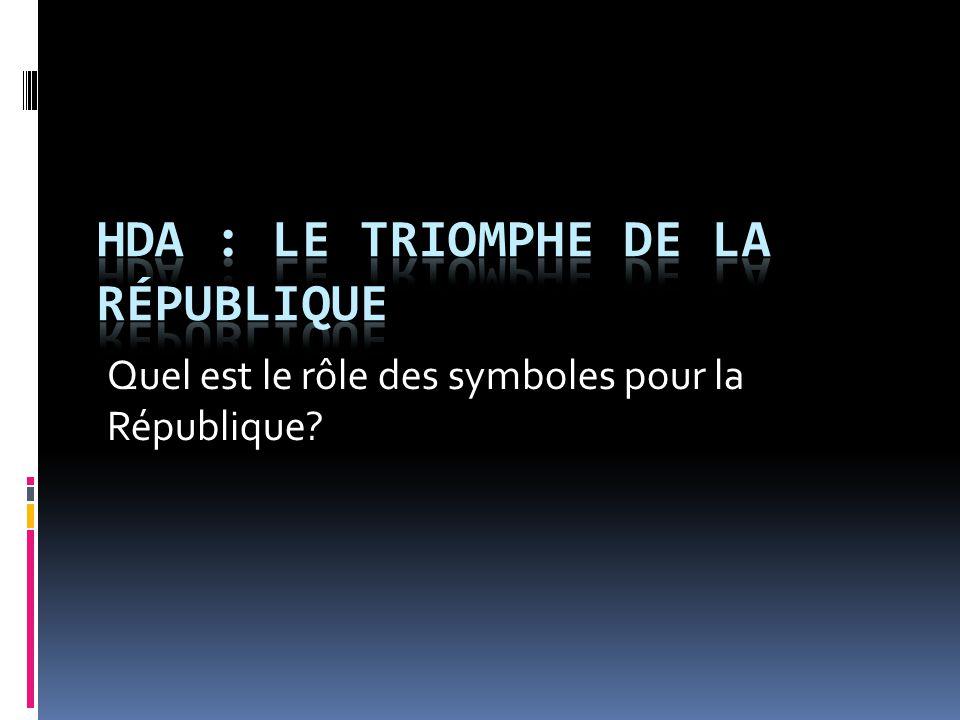 Quel est le rôle des symboles pour la République?