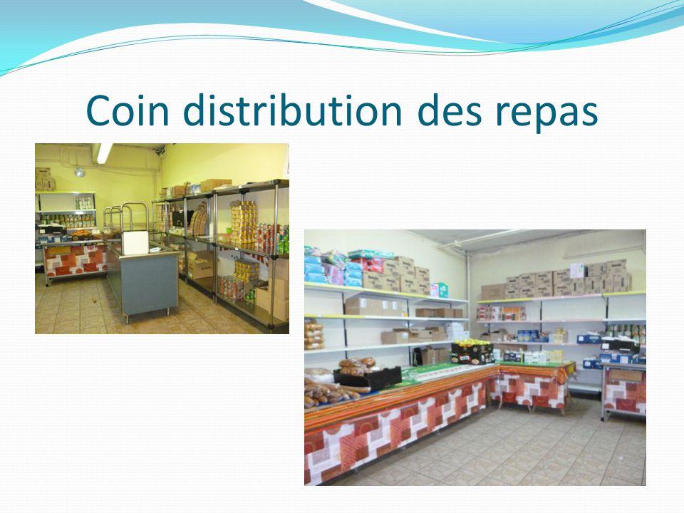 Coin distribution des repas
