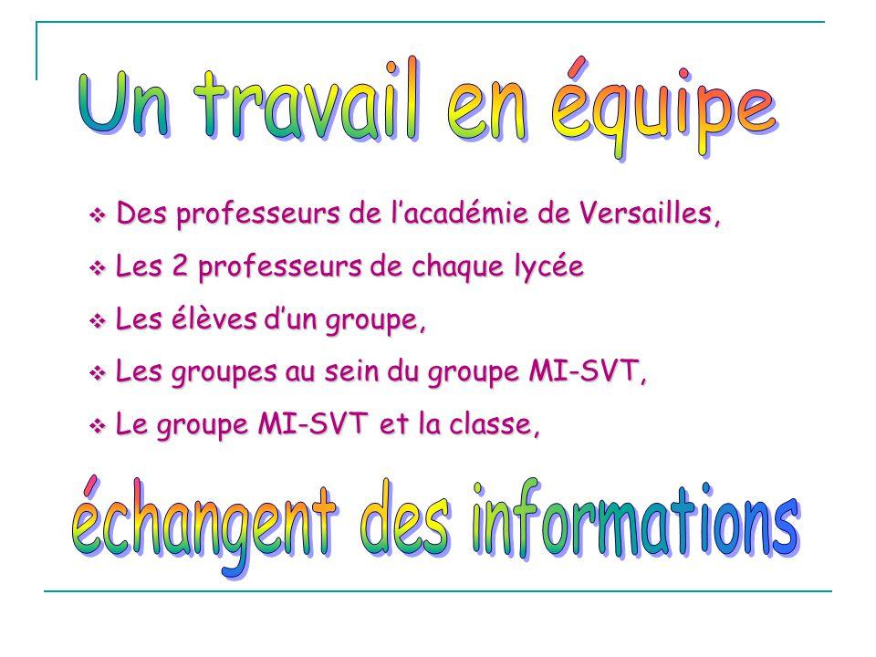 Des professeurs de lacadémie de Versailles, Des professeurs de lacadémie de Versailles, Les 2 professeurs de chaque lycée Les 2 professeurs de chaque