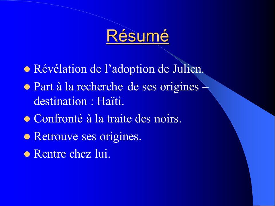 Résumé Révélation de ladoption de Julien.