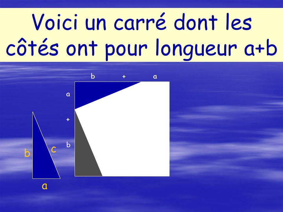 Conclusion: c² = a²+b² A blanc = c²A rose = a²+b²