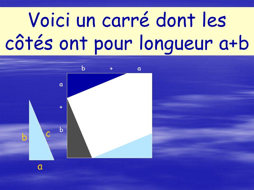 Le carré de la longueur du plus grand côté est-il égal à la somme des carrés des longueurs des 2 autres côtés .