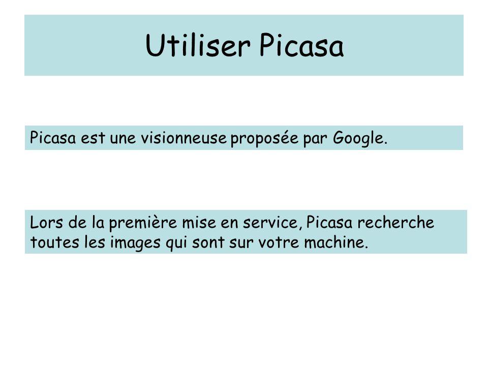 Utiliser Picasa Visionner chaque dossier en mode diaporama.