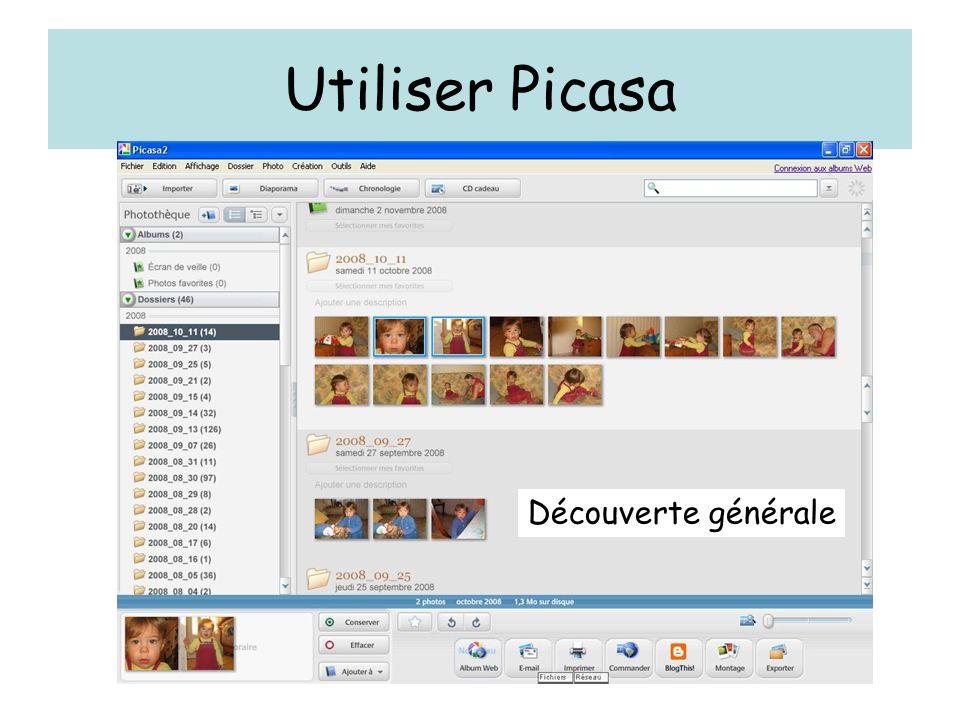 Utiliser Picasa Découverte générale
