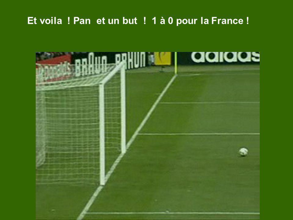 Et voila ! Pan et un but ! 1 à 0 pour la France !