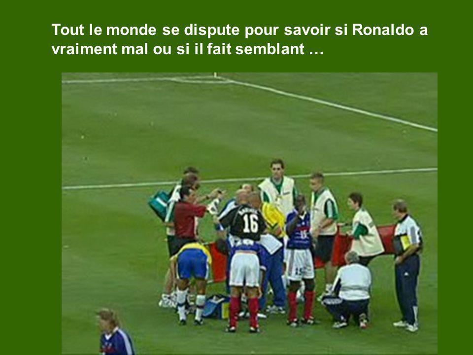 Tout le monde se dispute pour savoir si Ronaldo a vraiment mal ou si il fait semblant …