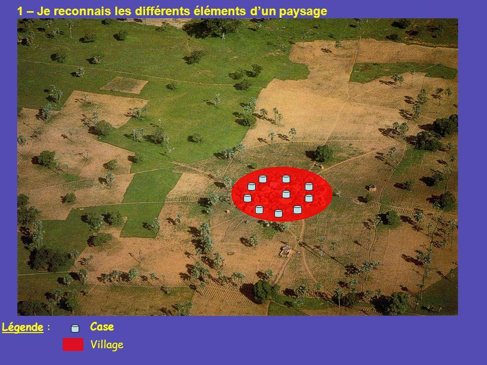 Légende : Village Case 1 – Je reconnais les différents éléments dun paysage