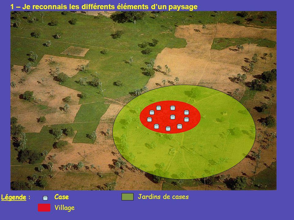 Légende : Village Jardins de casesCase