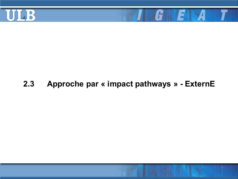 2.3Approche par « impact pathways » - ExternE