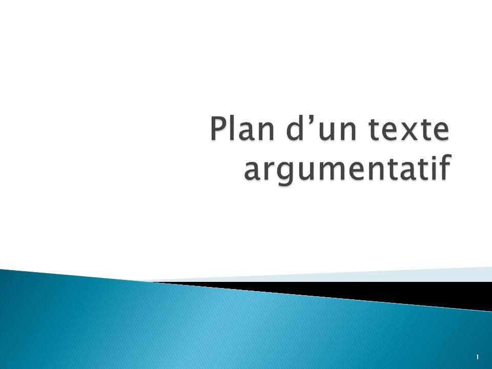 Elle doit comporter le sujet amené (le contexte), le sujet posé (la problématique et la thèse) et le sujet divisé (les arguments qui seront exposés).