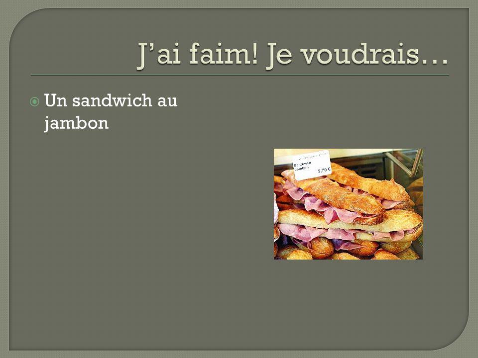 Un sandwich au jambon