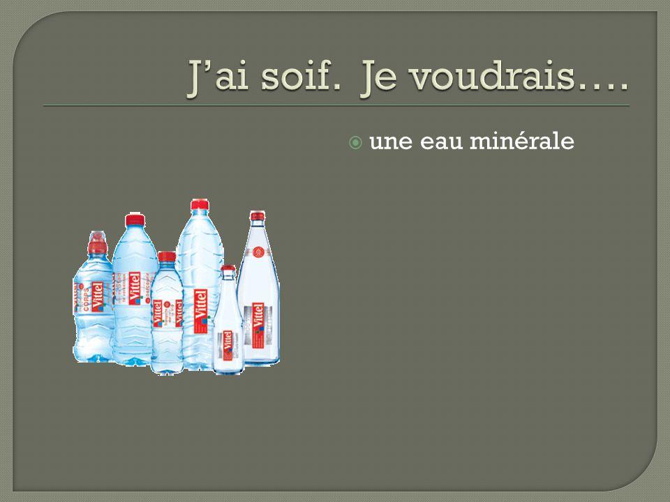 une eau minérale