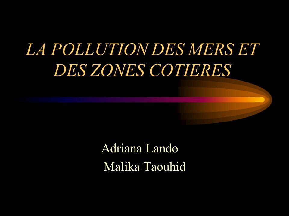 LA POLLUTION DES MERS ET DES ZONES COTIERES Adriana Lando Malika Taouhid