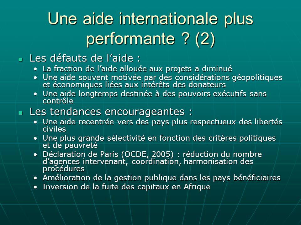 Une aide internationale plus performante ? (2) Les défauts de laide : Les défauts de laide : La fraction de laide allouée aux projets a diminuéLa frac