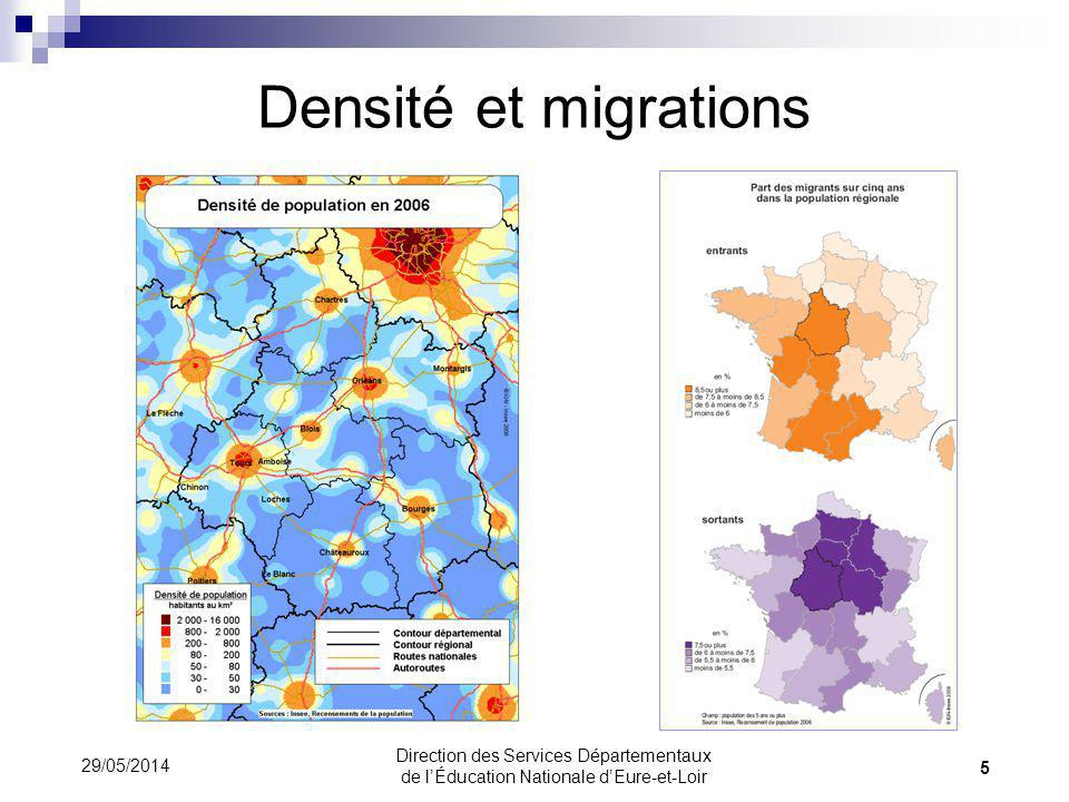 Le nombre délèves par classe en 1991 et 2011 36 29/05/2014 Direction des Services Départementaux de lÉducation Nationale dEure-et-Loir