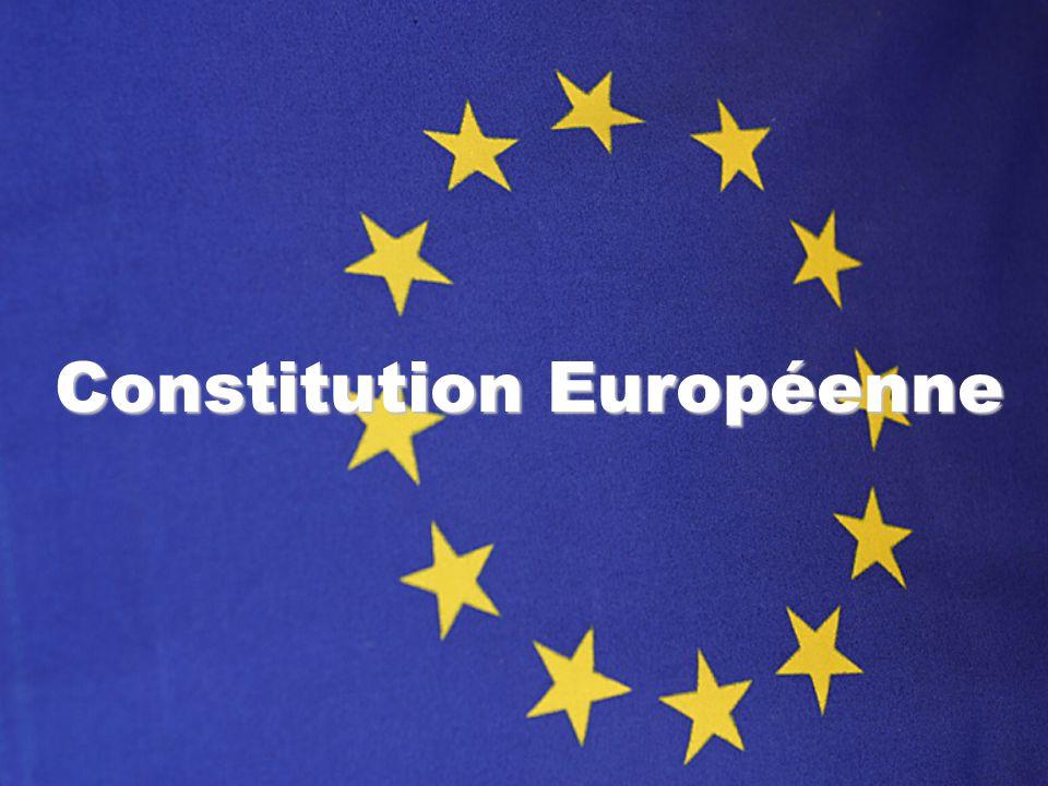 Les Origines de la Constitution Images : http://www.constitution-europeenne.fr 15 décembre 2001 Convocation dune Convention sur l avenir de lEurope par les chefs d Etat ou de gouvernement réunis à Laeken, en vue d une réforme institutionnelle et de l établissement d une Constitution européenne 20-21 juin 2003 Présentation du projet de Constitution de la Convention aux chefs d Etat et de gouvernement réunis en conseil européen à Thessalonique, adoption du projet comme base de la Conférence intergouvernementale.