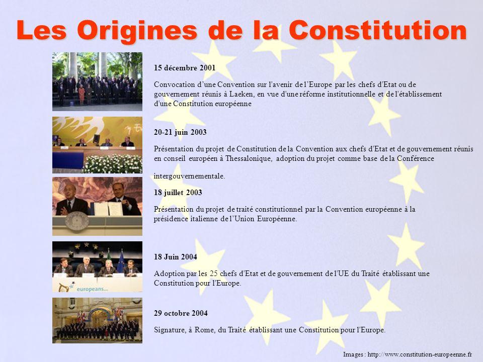 Traité établissant une Constitution pour l Europe Traité établissant une Constitution pour l Europe Le traité constitutionnel comprend un Préambule, quatre parties, deux annexes et trente-six protocoles.