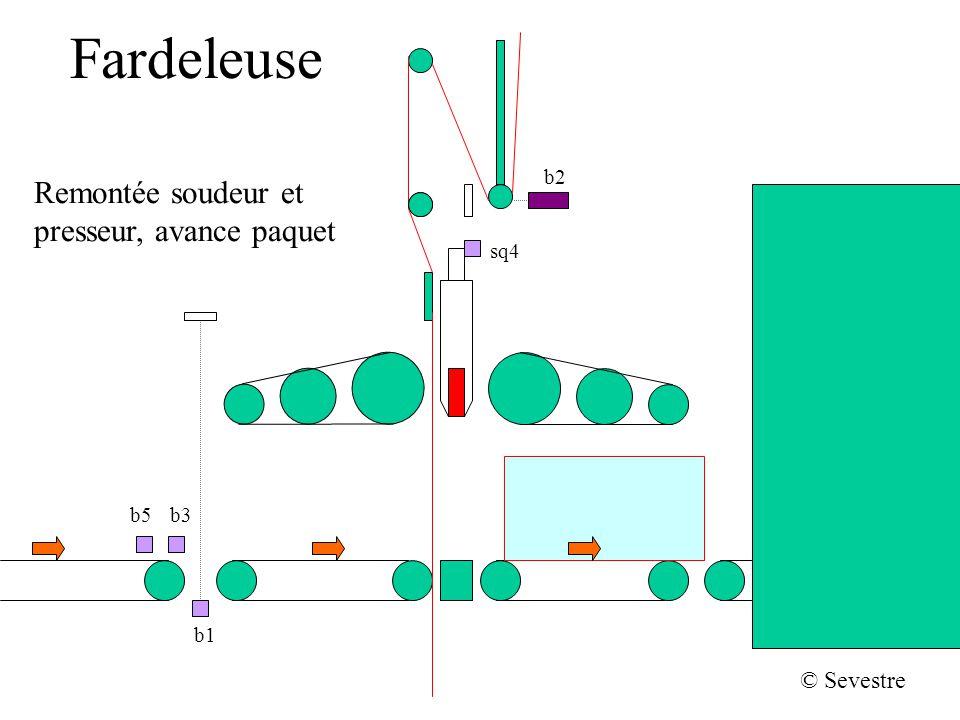Fardeleuse b2 sq4 b1 b5b3 © Sevestre Remontée soudeur et presseur, avance paquet