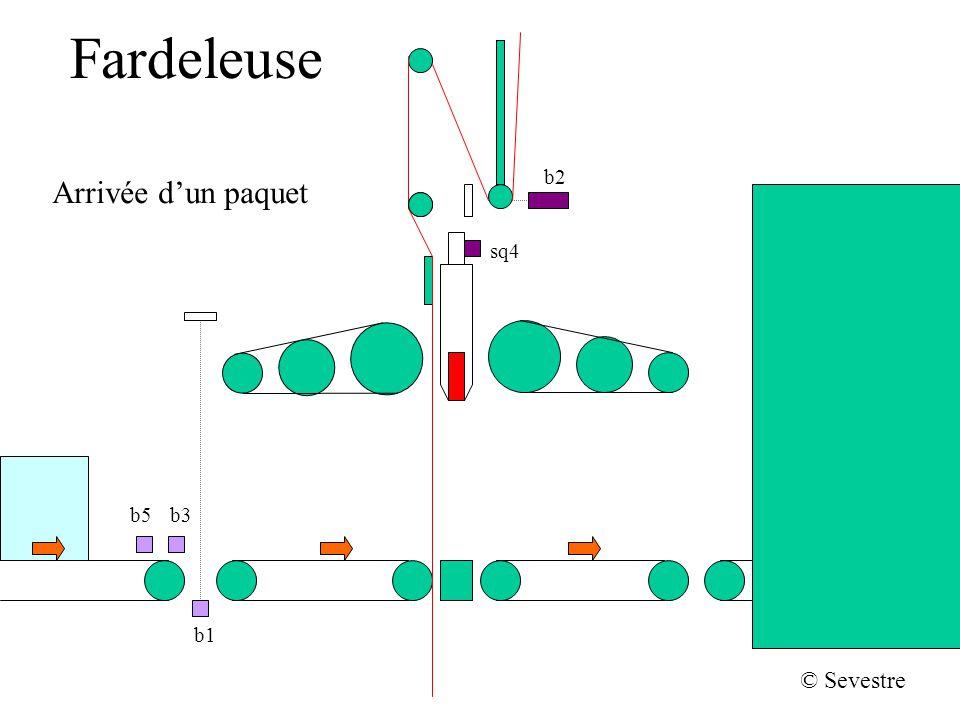 Fardeleuse b2 sq4 b1 b5b3 © Sevestre Arrivée dun paquet