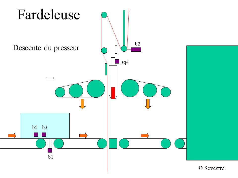 Fardeleuse b2 sq4 b1 b5b3 © Sevestre Soudage, retour arrière et dévidement supérieur