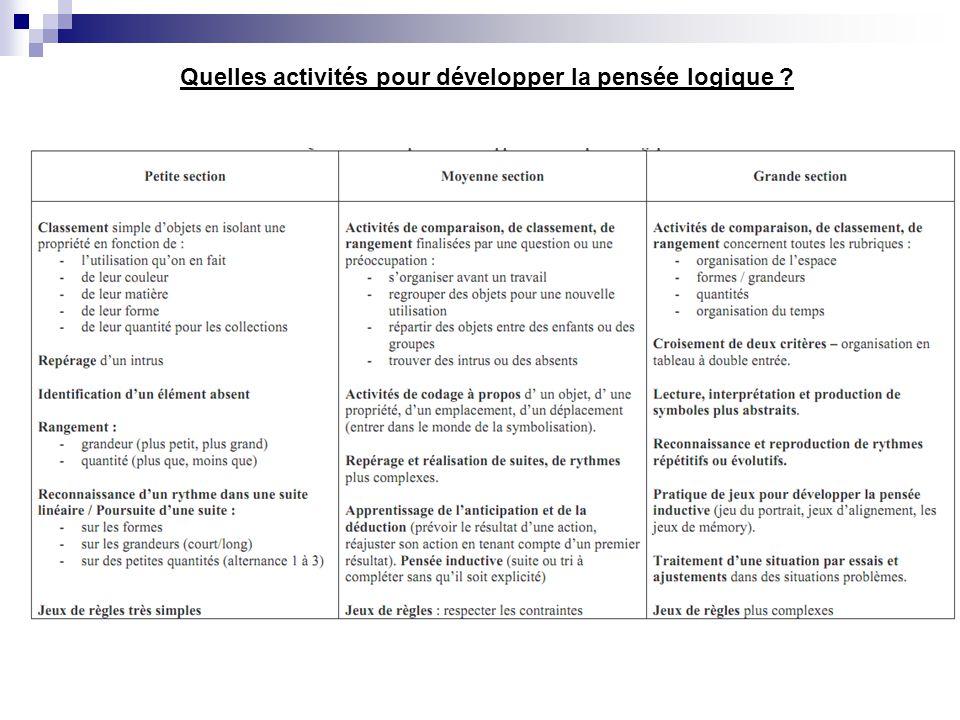 Quelles activités pour développer la pensée logique ?