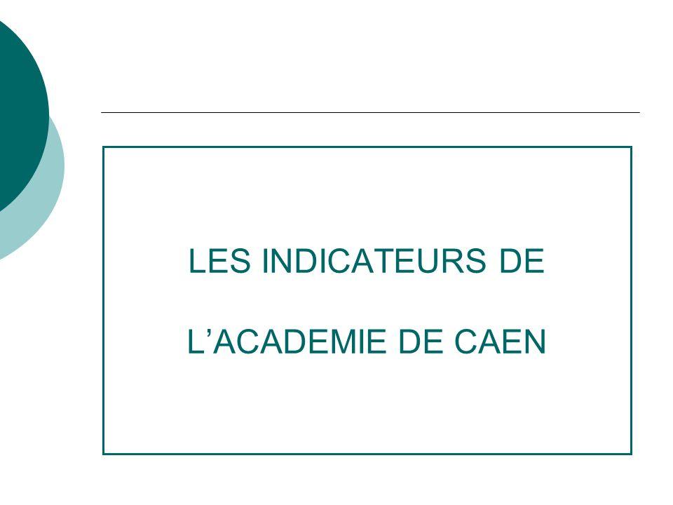LES INDICATEURS DE LACADEMIE DE CAEN