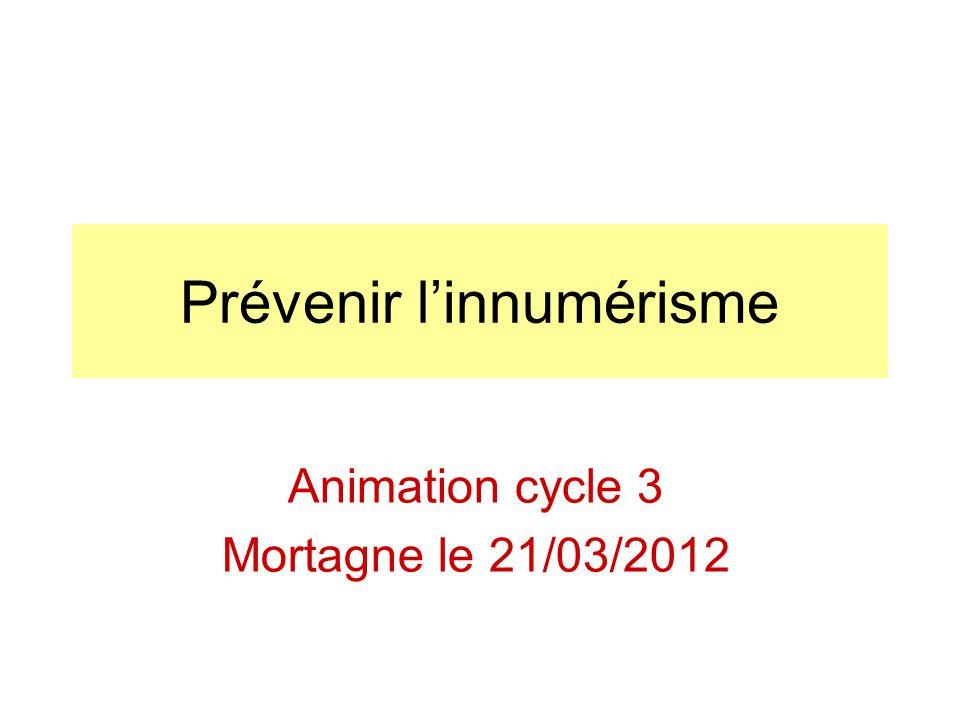 Prévenir linnumérisme Animation cycle 3 Mortagne le 21/03/2012